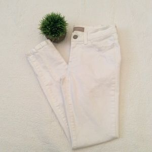 banana republic skinny white jeans
